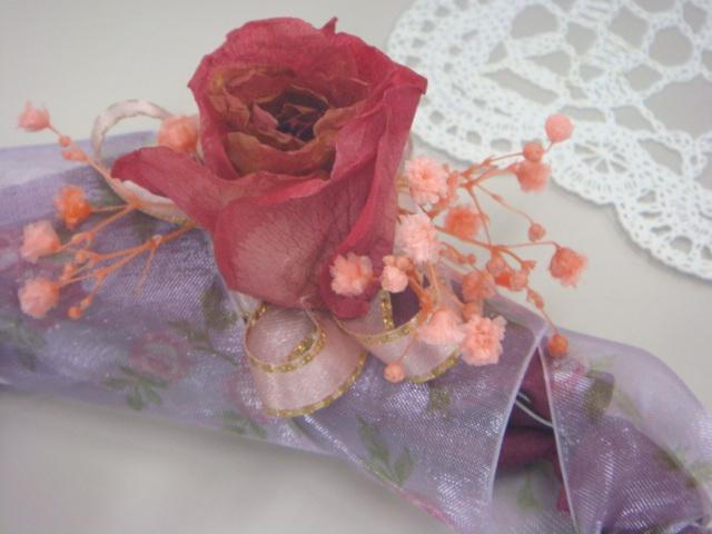 生花から作るプリザ