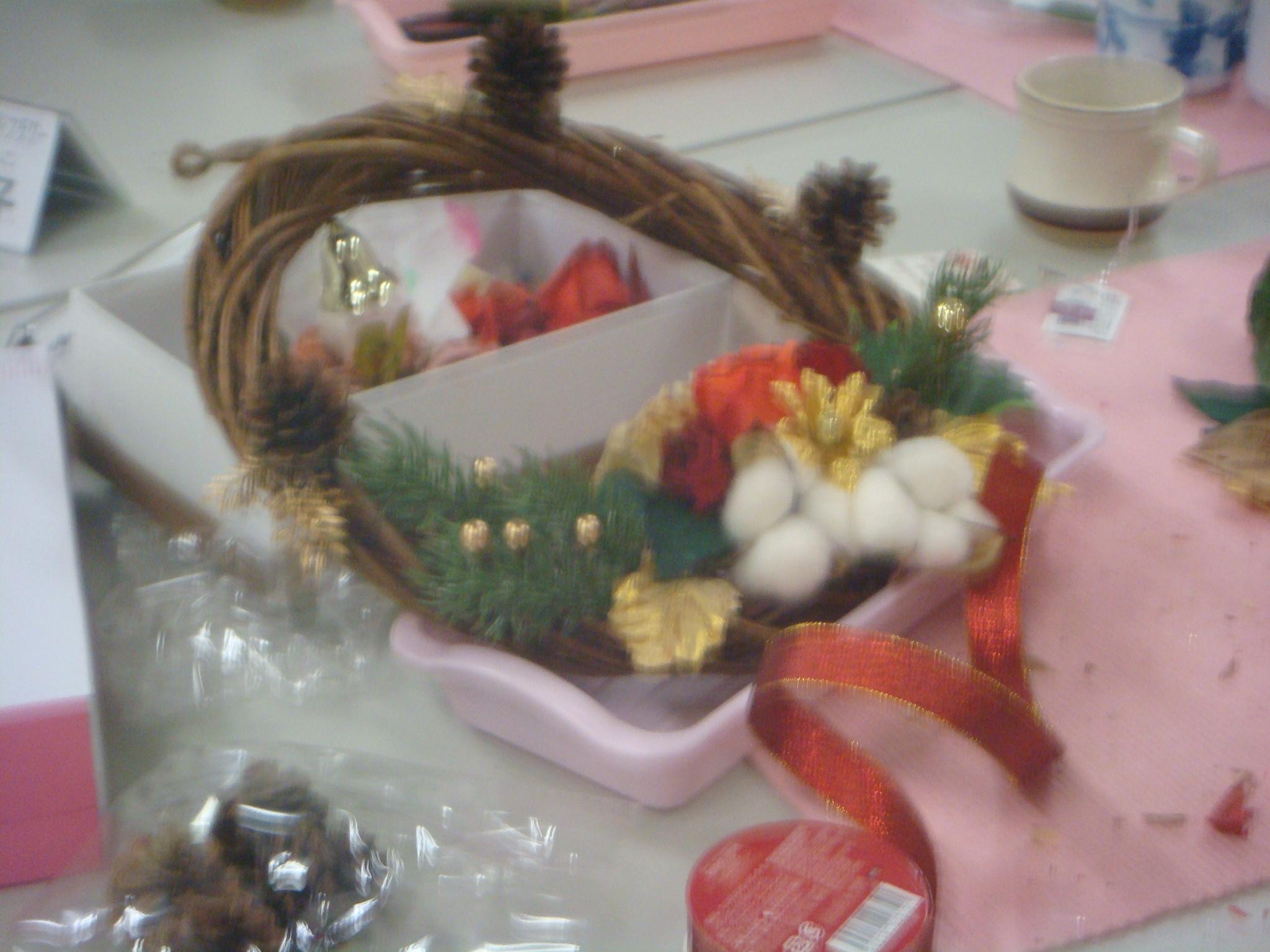 生花から作るプリザ生徒様作品