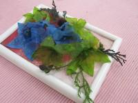 生花から作るプリザ・生徒様作品「桔梗」