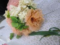 生花から作るプリザーブド・ボールブーケ