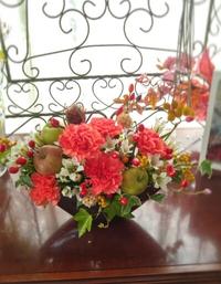 10月フラワーレッスン収穫の秋前半のお花たち