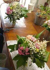 クラッチブーケは花束のように束ねて~豊田市フラワー教室