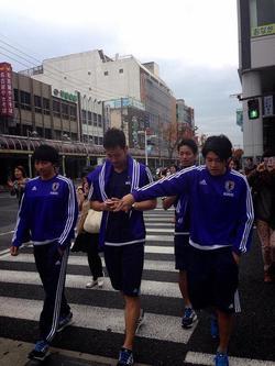 いろんな人が豊田に来ています(した)
