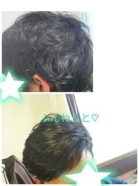 髪がボサボサするくせ毛の中年男性にハーブシャンプー