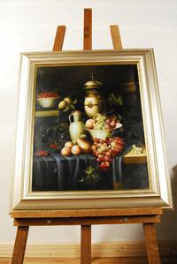 デーブ ジャックマン 油彩画 静物画 買取しました。愛知県 岡崎市 リサイクルショップアントレ
