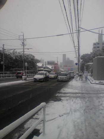 突然の大雪