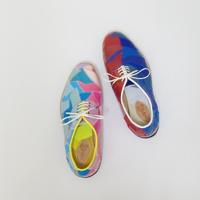 岡崎市で革靴フルオーダー4色パッチワーク。ガロチャ