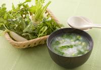 七草粥…無病息災を祈り疲れた胃を休める。グリーンロゼット…疲れた身体を癒し心も身体も元気にするサロン。