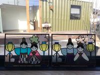 グラスアートでひなまつり作ってきました in豊田市ローズドロップ&MatleyFare(マトリーファーレー)