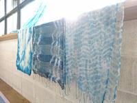 藍染でショールつくり・ひつじ工房さんの体験ワーク inスタジオハルガ