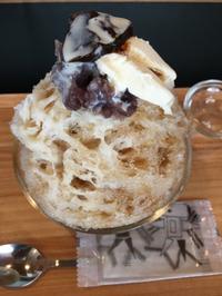 八ヶ岳天然氷で作られる土日祝日限定かき氷「一隆堂喫茶室」