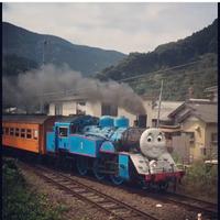 寸又峡・夢の吊り橋ツーリング途中で大井川鉄道トーマス号に遭遇!!
