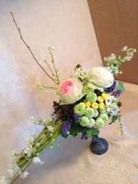 豊田市のお花教室「沙和花」で3月生花レッスン