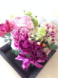 豊田市のお花教室「沙和花」で2月生花レッスン