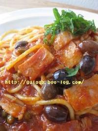 『ファイネストプッタネスカ』簡単美味しいパスタランチ