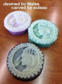 手作り石鹸でソープカービング 名古屋タイカービングマリー