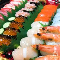 お祝いでお寿司*