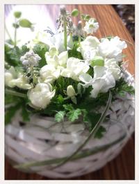 (豊田市 花 アレンジ教室)3月Flower lesson