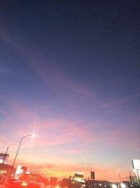 真っ赤な夕焼け  明日もいいお天気ですね