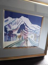 雪山の切り絵