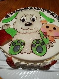 オリジナルデコレーションケーキと一升餅で一歳のお誕生日会