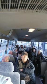 東郷町北山台老人クラブ 送迎バスで新年会