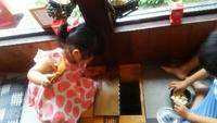 お食い初めのお祝い   子連れでも安心個室 鯉の部屋