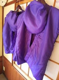 ご夫婦揃って喜寿の御祝い 紫のちゃんちゃんこ 鯉の部屋