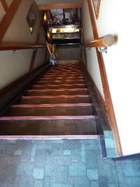 二階への階段  ご高齢の方々も安心  昇降機で楽々