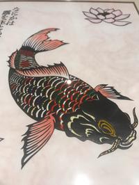 北海道の友達が 僕が鯉好きなので 切り絵を作ってプレゼント下さいました!