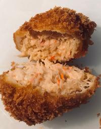 北海道北のピリカ生産 50対50 蟹クリームコロッケ弁当