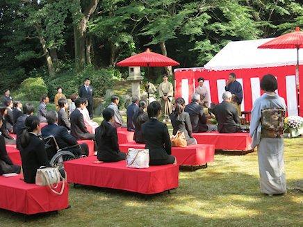 愛知県知事茶会でお手伝い
