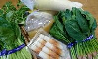 八日市で野菜をGET!