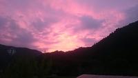 癒し風景  小原の朝焼け 幻想的な景色に遭遇‼