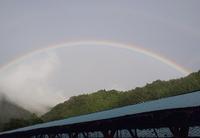 自然のプレゼント。綺麗な虹がクッキリ‼️