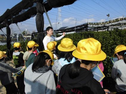 岡崎の小学校の見学を受け入れました☆
