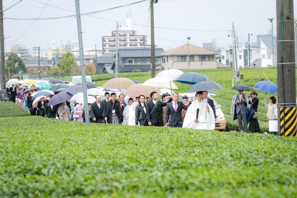 農家の手作り結婚式⑪茶畑で花嫁行列動画
