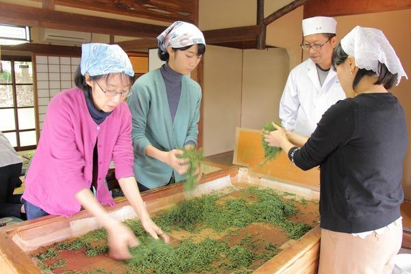 まちさとミライ塾で手揉み製茶体験☆