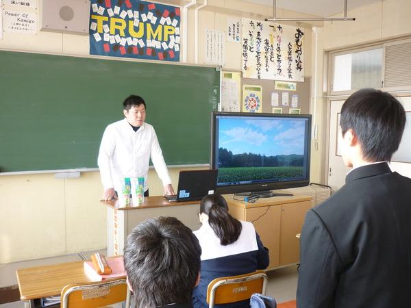 上郷中学校で講演してきました☆