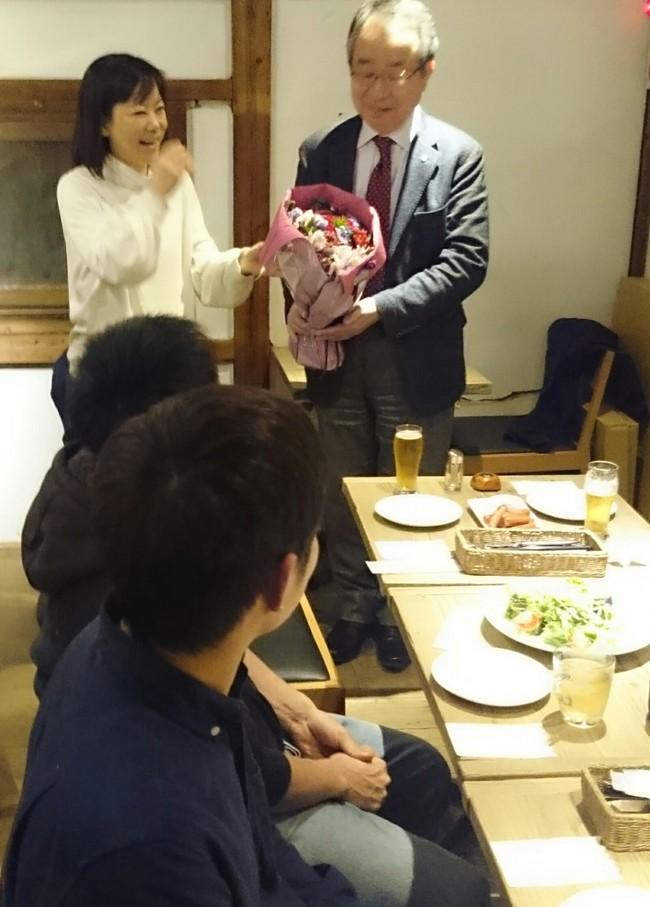 山内さんの黄綬褒章お祝い会♪