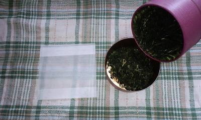 冷や茶に有機栽培煎茶中