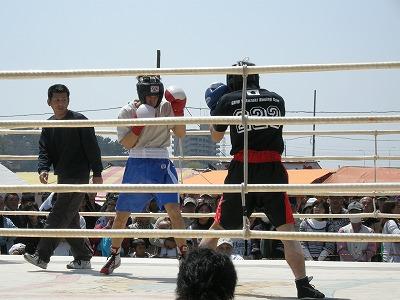昨日のボクシング大会にて
