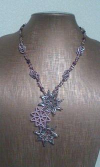 紫のネックレス~おりがみ~