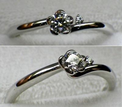 手の届く、婚約指輪。2016Xmas