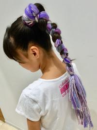 【ダンス女子の毛糸編み込み!】