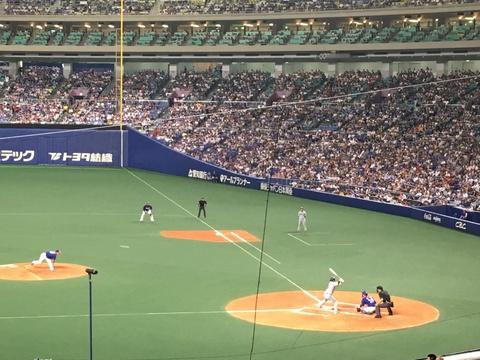 野球観戦、中日vs巨人