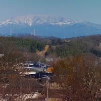 平成記念橋から恵那山を拝む