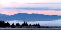 今朝は六所から中心市街地まで一面の雲海