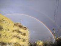 朝6時に虹がっっ!