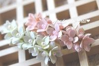かわいい小花の天然石お花バレッタ❀* ❀